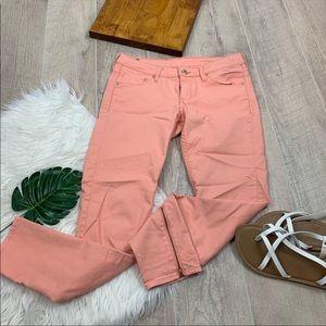 H&M &Denim Coral Skinny Low Waist Ankle Jean D1472